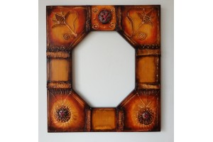 Unique hand painted mirror frame