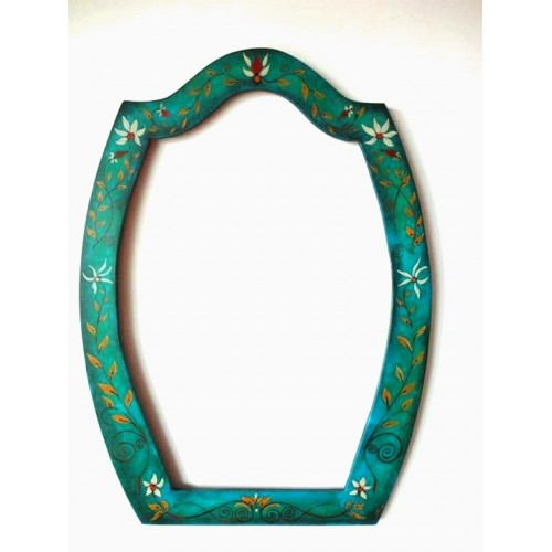 Unique, hand painted mirror frame