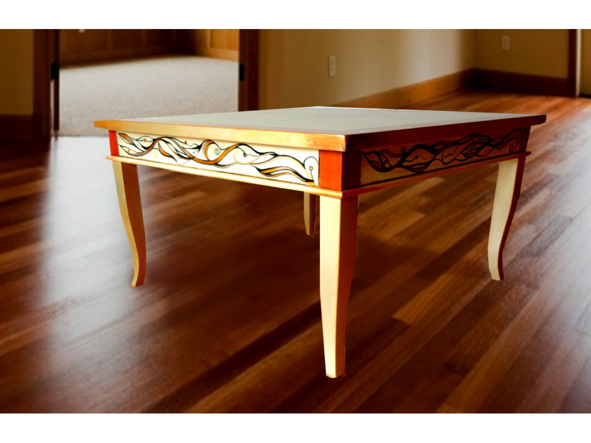 Mazagran Unique Hand Painted Coffee Table Eggcentrik