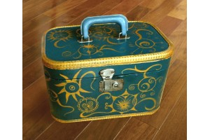"""Dorothy"" Unique, hand painted suitcase"