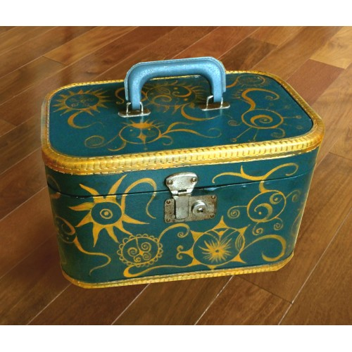 """Dorothy"" Unique, hand painted suitcase"