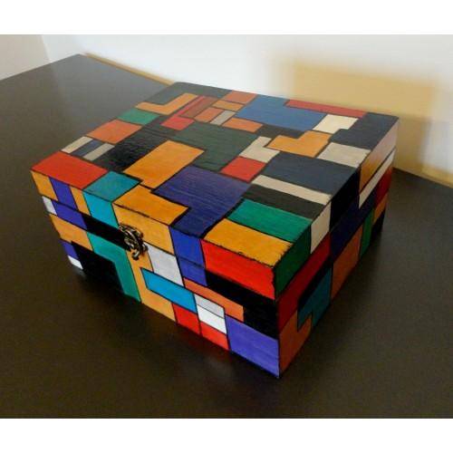 """"""" Color touch box """" Unique painted box"""