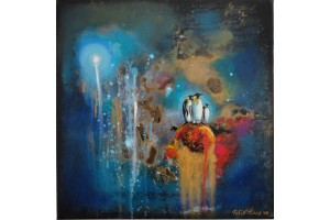 "Felix Albus  ""Destroying Creation""  40cm X 40cm, Acrylic on canvas, 2019"