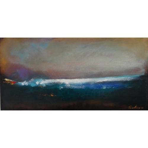 """Felix Albus  """"Don't break the silence""""  60cm X 30cm, Acrylic on canvas, 2019"""