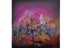 "Felix Albus  ""Sweet solitude""  50cm X 50cm, Acrylic on canvas, 2019"